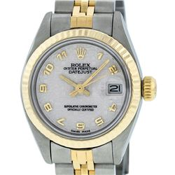 Rolex Ladies 2 Tone 14K Yellow Gold & Stainless Steel Cream Jubilee Datejust