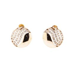 0.14 ctw Diamond Rounded Disc Earrings - 14KT Rose Gold