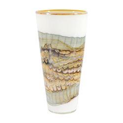 Large White Opal Cone by GartnerBlade Glass