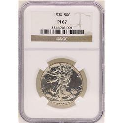 1938 Walking Liberty Half Dollar Proof Coin NGC PF67