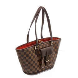 Louis Vuitton Damier Ebene Canvas Leather Manosque PM Bag