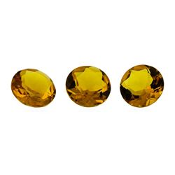 12.32 ctw.Natural Round Cut Citrine Quartz Parcel of Three