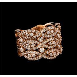 14KT Rose Gold 1.22 ctw Diamond Ring