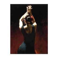 Flamenco Dancer In Black by Perez, Fabian