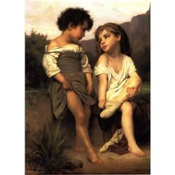 William Bouguereau - At the Edge of the Brook