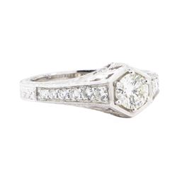0.93 ctw Diamond Ring - 18KT White Gold