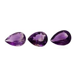 20.18 ctw.Natural Pear Cut Amethyst Parcel of Three