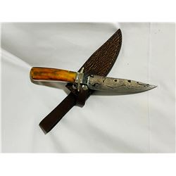 Amber Stag Bowie Knife by W.M.Knives