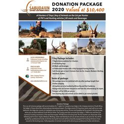 7-Day South Africa Hunt for Four (4) Hunters