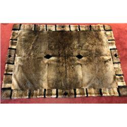 HOLLOWAY 10-Skin, Long-Hair Beaver Blanket with Velvet Backing Handmade