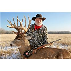 NORTH RIVER: 6-Day Whitetail Deer Hunt for One Hunter with Larry Weishuhn  in Alberta, Canada - Incl