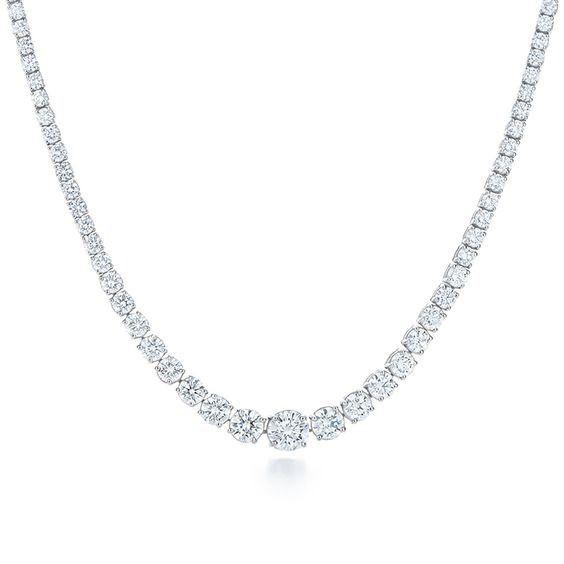 KELLY MITCHELL: Stunning  Riviera  10 Carat Diamond Necklace