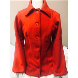 Ladies Red Wool Jacket by Sleeping Indian