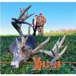 PREMIER SAFARIS / XFACTOR WHITETAILS: 3-Day Trophy Whitetail Deer Hunt for One Hunter and One Non-Hu