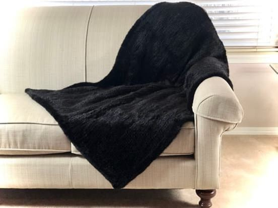 ALASKA FUR GALLERY: His/Hers Hand-Knitted Mink Lap Throws