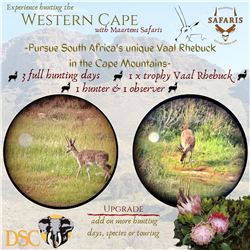 MAARTENS SAFARIS: 3-Day/4-Night Vaal Rhebok Hunt for One Hunter and One Non-Hunter in Western Cape,