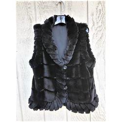 GREAT ROCKY MTN FUR: Ladies Black Mink Vest