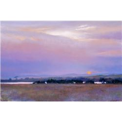 "T.D. KELSEY: ""Shiwa Sunset"" - Original Oil Painting by Julie Oriet"