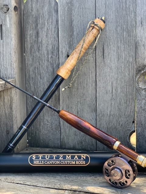 STUTZMAN HELLS CANYON Custom Fly Rod, Reel and Matching Walking Stick