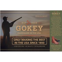 BOYT HARNESS & GOKEY USA: $400 CERTIFICATE Towards Pair of Gokey Boots or Shoes