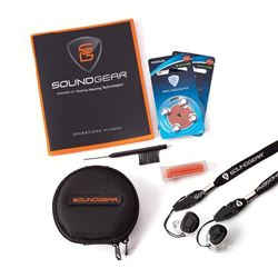HEARING PROFESSIONAL: Custom-Fit SoundGear Silver Electronic Hearing Protection