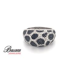 NATURAL BLACK & WHITE DIAMOND RING