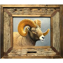 ORIGINAL SHEEP OIL PAINTING BY CRAIG PHILLIPS