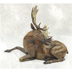 """MOOSE"" BRONZE SCULPTURE"