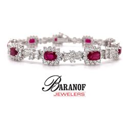 NATURAL PIGEON BLOOD RUBY & DIAMOND BRACELET