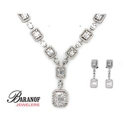 DIAMOND NECKLACE & EARRING SET