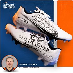 MY CAUSE MY CLEATS - DENVER BRONCO LINEBACKER DERREK TUSZKA