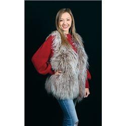 WED-07 Holloway Furs Blush-Dyed Tibetan Lambskin Vest