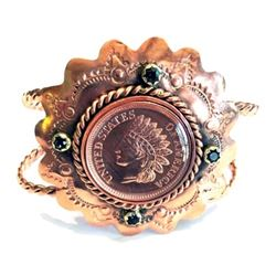 WED-10 Copper Indian Head Cent Coin Cuff