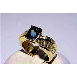 TH-10 5 ct Tanzanite & Diamond Ring