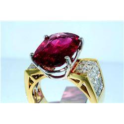 FR-15 10.9 ct Tourmaline & Diamond Ring