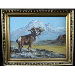 FR-17 Original Sheep Oil Painting