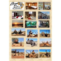 LLOYD SAFARIS: 7 Day South African Safari for 1 Hunters and 1 Non-Hunters for Springbuck, Blesbuck,