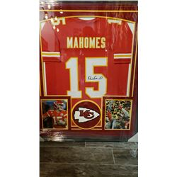 PATRICK MAHOMES Autographed Kansas City Chiefs Framed Jersey