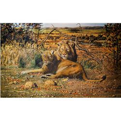 JAN STANDER:  Regal Setting  Original 50 x 30 Oil Painting on Canvas