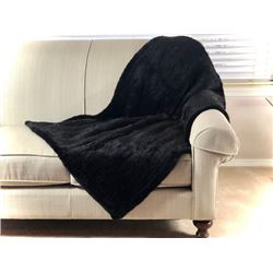 ALASKA FUR GALLERY: His/Hers Knitted Mink Lap Throws