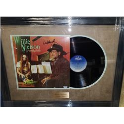 WILLIE NELSON AUTOGRAPHED FRAMED ALBUM