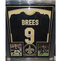 DREW BREES AUTOGRAPHED NEW ORLEANS SAINTS FRAMED JERSEY