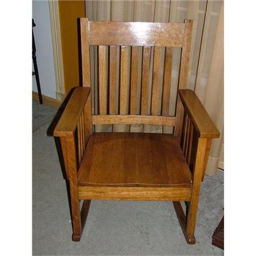 Mission Oak Stickley Style Rocking Chair 944199