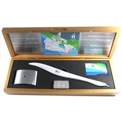 *2010 Vancouver Olympics Torch Relay Replica Set. This Set was made entirely in Canada by Birks and