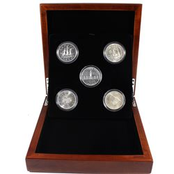 Canada Commemorative Silver Dollar Set Featuring the 1939, 1949, 1958, 1964 & 1967 Canadian Special
