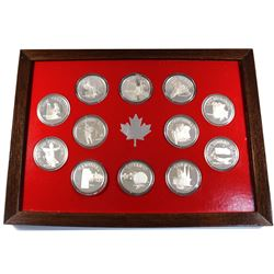 *Unique! Canadian Province 12-coin Sterling Silver Set Depicting Each Province, Capital, Flower and