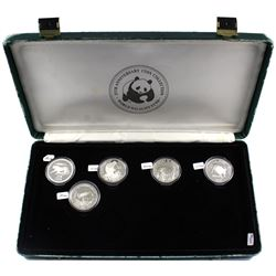*Very Rare Set! 1986-1988 World Wildlife Fund 25th Anniversary 20-coin Proof Set in Original Display