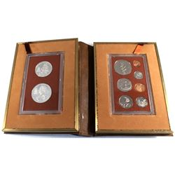 1973 Cook Islands 7-coin Proof Set with 2 Silver Coins - $7.50 Coin Commemorating James Cooks' Disco