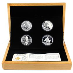 2015 Canada $2 American Sportfish 4-Coin Fine Silver Set in Deluxe Display Case (TAX Exempt).