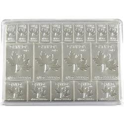 2019 Royal Canadian Mint Flex Maple Leaf 2oz Fine Silver Fractional Multibar (TAX Exempt).